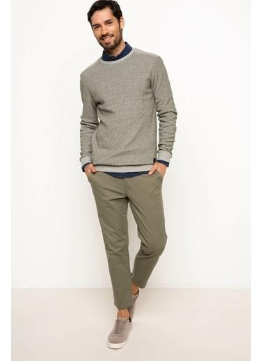 DeFacto Armalı Sweatshirt Yeşil